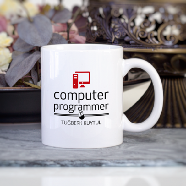 Kişiye Özel Bilgisayar Programcısı Kupa Bardak