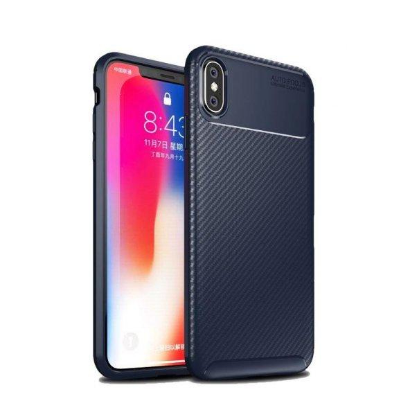 iPhone X Fiber Silikon Kılıf Lacivert