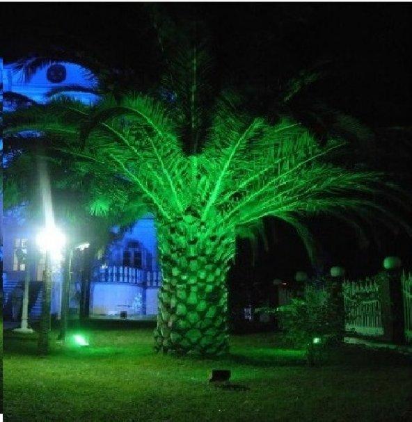 10W-30W-50W Watt Yeşil Bahçe Led Aydınlatma Çim Projektörü+Fiş