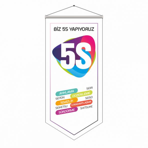 5S Kalite Bayrağı 70x200