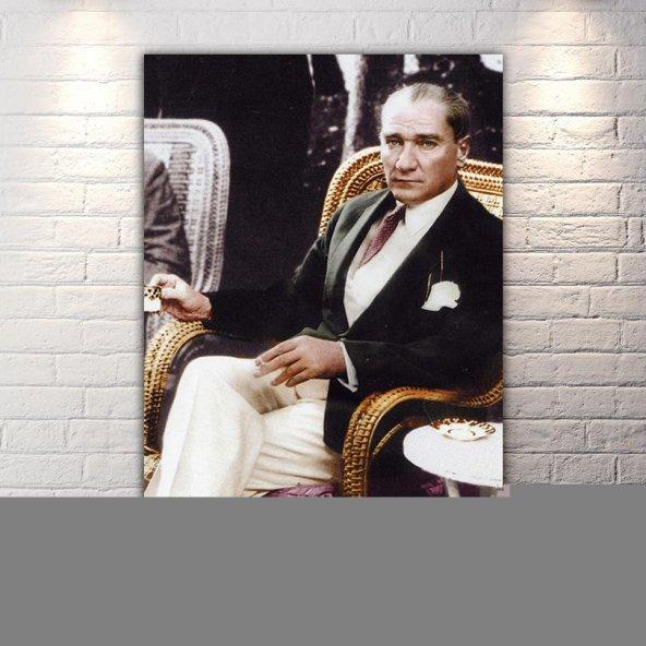 Mustafa Kemal Atatürk Renkli Kanvas Tablo