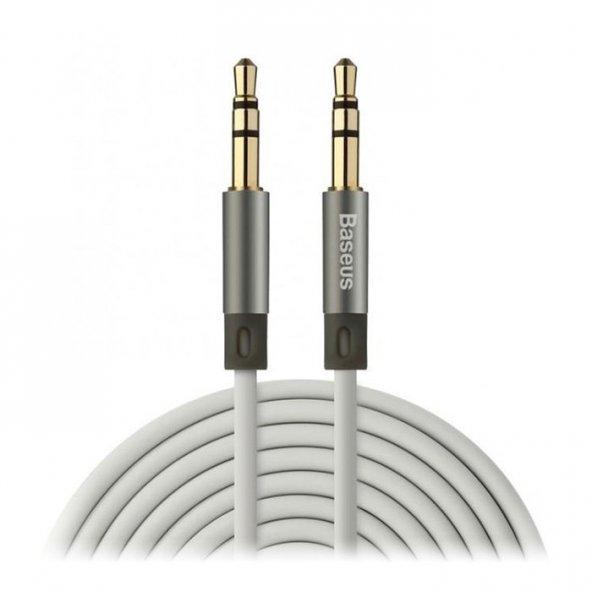 Baseus Fluency serisi AUX Audio Kablo 1,2M Gök Gri