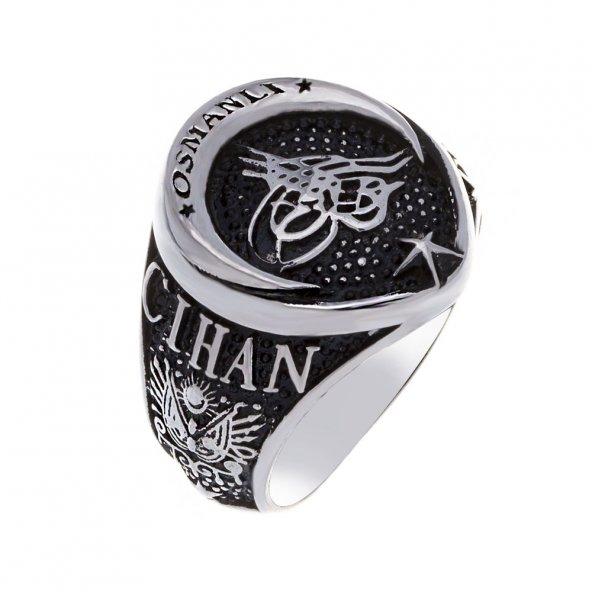 925 Ayar Gümüş Cihan Devleti Osmanlı Yüzüğü