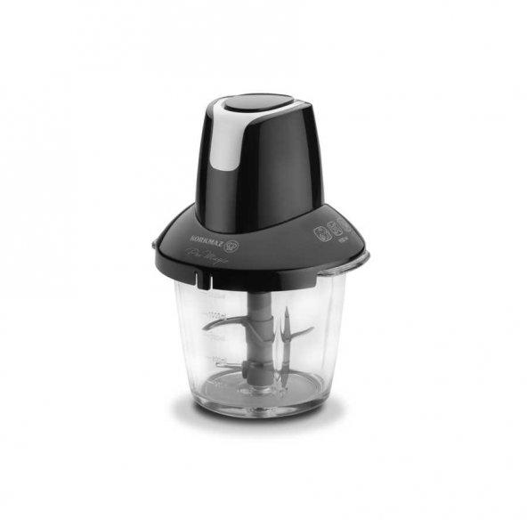 Korkmaz Pro Magic 4 Bıçaklı Siyah/Krom Cam Doğrayıcı A460