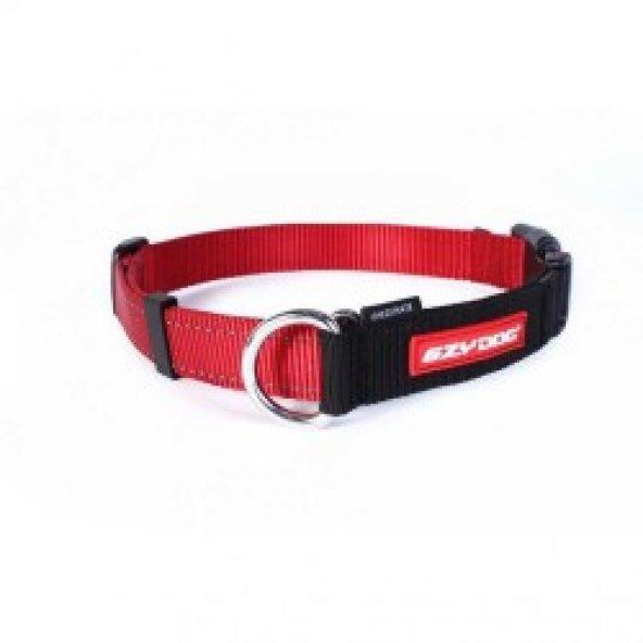 EzyDog Checkmate Kilitli Köpek Terbiye Boyun Tasması (XL) Kırmızı