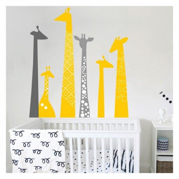 Zürafa 69x77 cm. Duvar Sticker