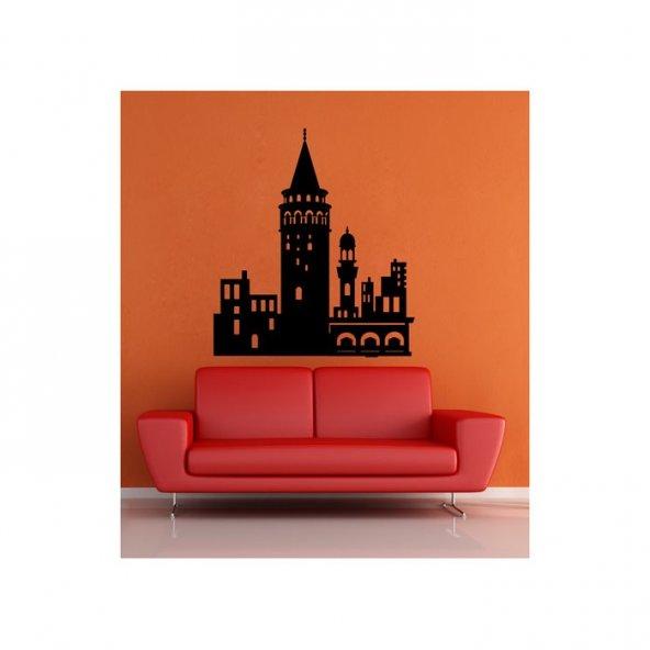 Galata Kulesi Kadife Duvar Sticker 88X101 Cm