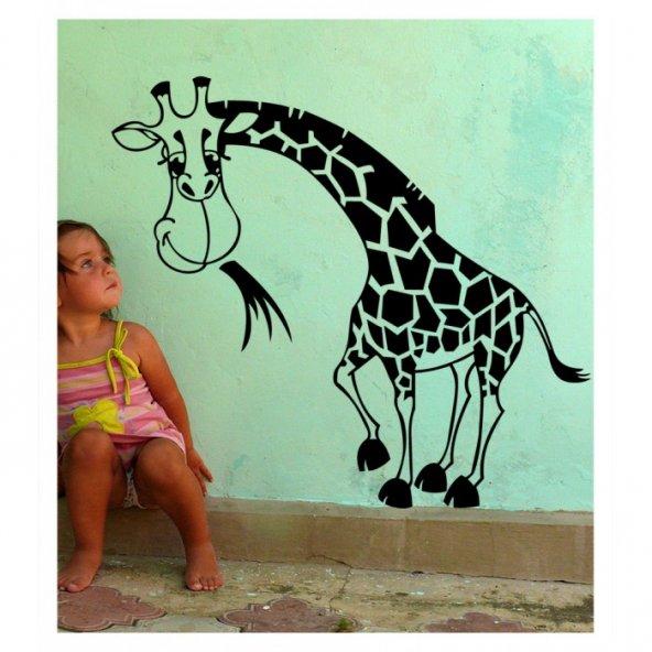 Baby Zürafa Kadife Duvar Sticker 161X145 Cm