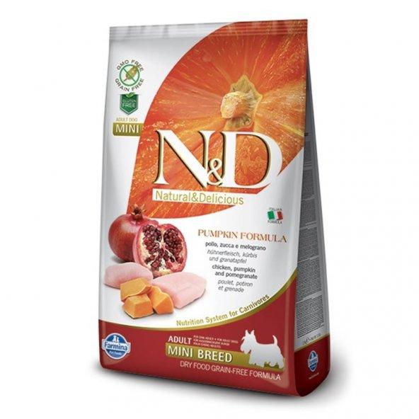 N&D Balkabaklı Tavuklu Tahılsız Küçük Irk Köpek Maması 7 Kg
