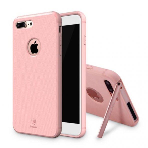 Baseus Hermit Tutucu Stantlı Kılıf iPhone 7 Plus/8 Plus Pembe