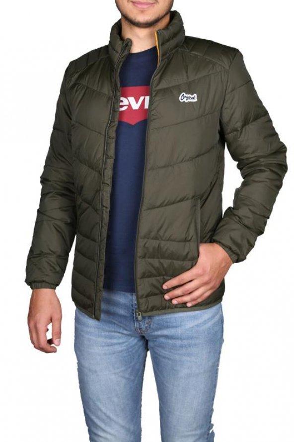 Jack Jones Erkek Şişme Mont Jorbend Stand Collar 12138350-TEC