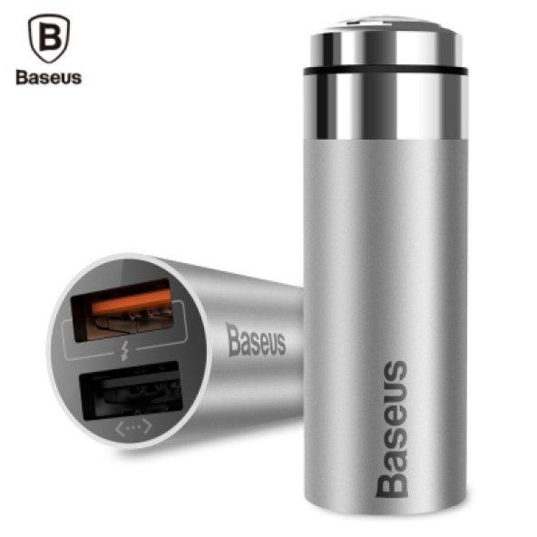 Baseus CarQ serisi Hızlı Şarj 3,0 çift USB Şarj Gök Gri