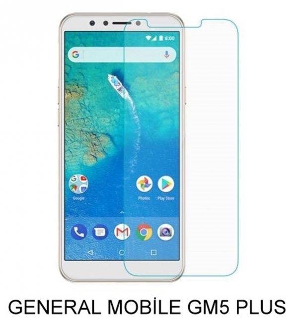 General Mobile GM5 Plus  Kırılmaz Temperli Cam Ekran Koruyucu