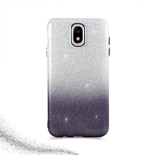 Samsung J7 Pro Simli Kamera Korumalı İnce Silikon