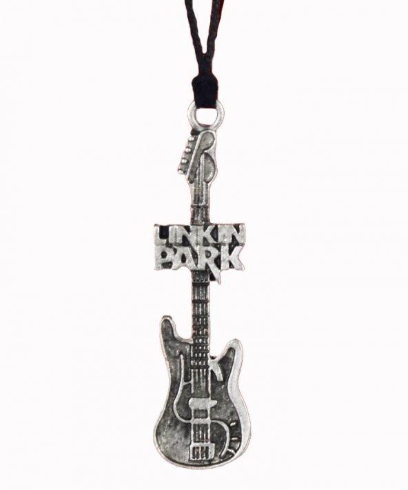 Linkin Park Elektro Gitar İpli Unisex Kolye