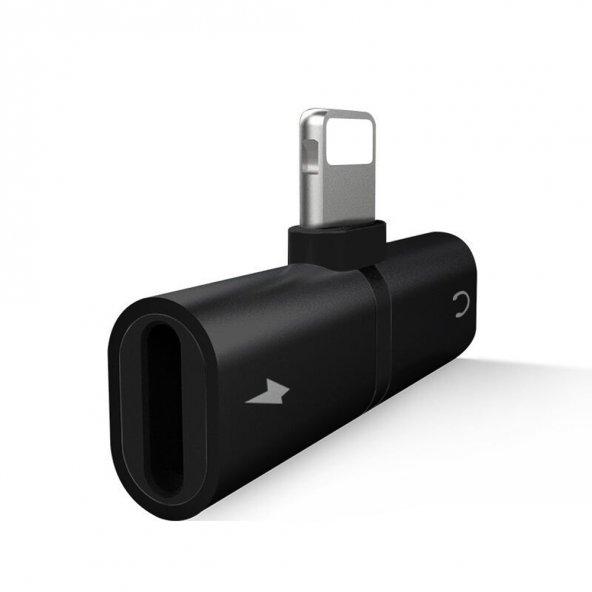 Escom İphone Lightning Splitter 2in1 Şarj ve Kulaklık Birleştirici