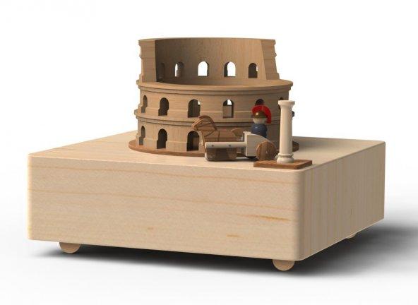 Wooderful Life Şehir Konseptli Müzik Kutusu Roma ve Gladyatör 1033122