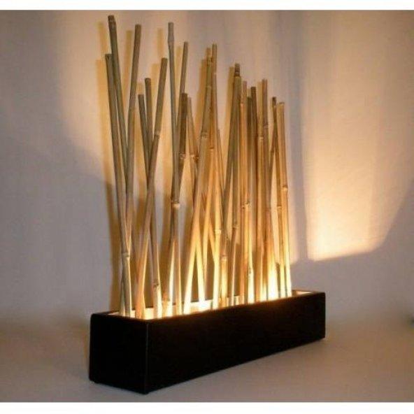Bambu Cubuk 210 cm 16-18 mm 40 Adet Bambu Bitki Destek Çubuğu Dekoratif Bambu Çubuk