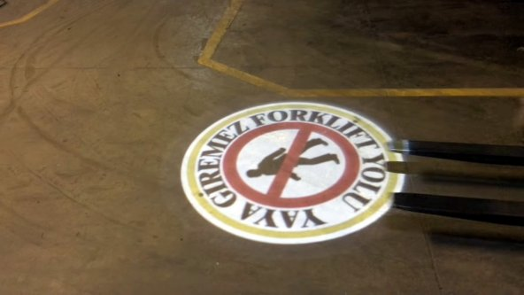 Guvenlik Işığı 40w Sarkıt Dönen Logo Yansıt Güvenlik Işığı