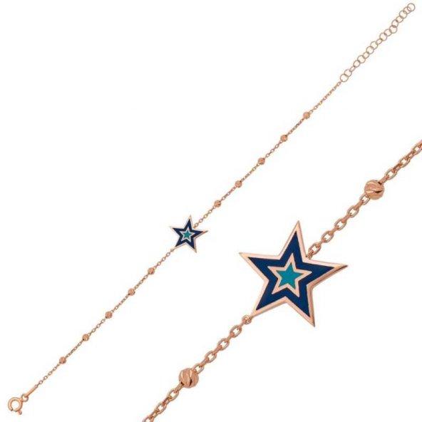 Dorissa Yıldız Pirmoda Gümüş Bileklik