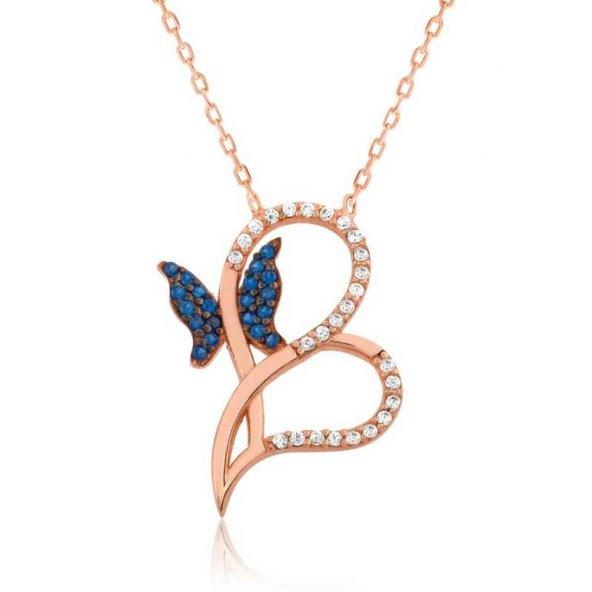 Kalbimin Kelebeği Bayan Pirmoda Gümüş Kolye