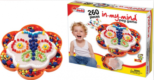 Dede Oyuncak Eğitici Puzzle Çivi Oyunu 260 Parça Lego Oyun Seti