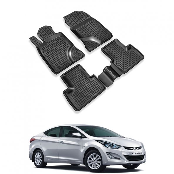 Hyundai Elentra 3D Havuzlu Paspas 2011-2015 -Siyah-