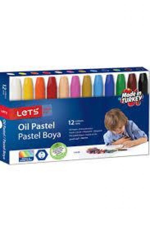 Lets Oil Pastel Boya 12 Li