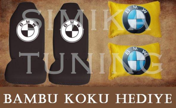 BMW SİYAH Ön ve Arka Kılıf + Yastık BAMBU KOKU HEDİYE