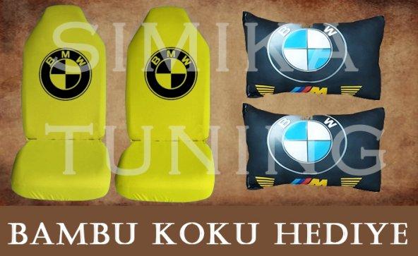 BMW SARI Ön ve Arka Kılıf + Yastık BAMBU KOKU HEDİYE