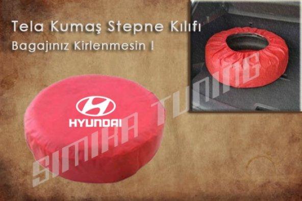 Hyundai Kırmızı Renk Tel Kumaş Stepne Kılıfı 3 Sticker HEDİYE