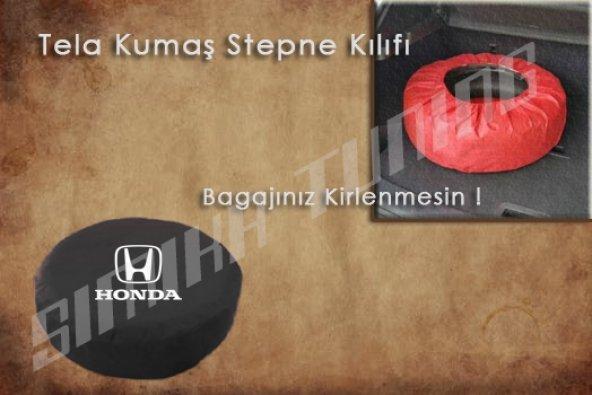 Honda Siyah Renk Penye Kumaş Stepne Kılıfı 3 Sticker HEDİYE