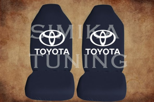 Toyota Siyah Renk Ön Koltuk Penye Kılıf 1 Sticker HEDİYE