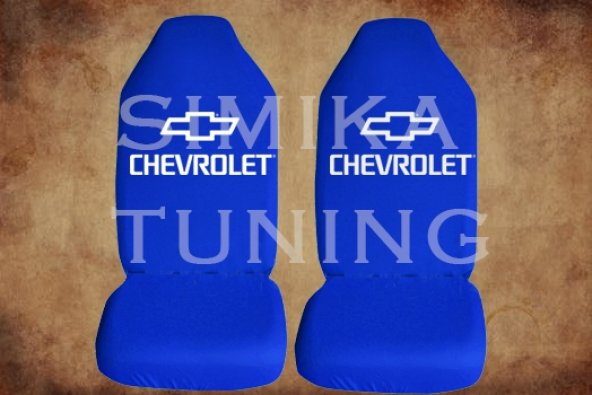 Chevrolet Sax Mavi Renk Ön Koltuk Penye Kılıf 1 Sticker HEDİYE