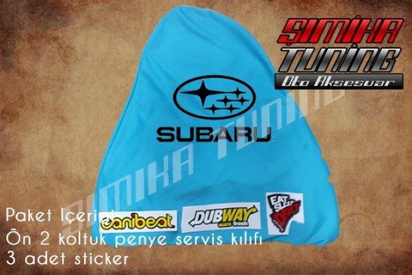 Subaru Turkuaz Renk Ön Penye 3 Sticker