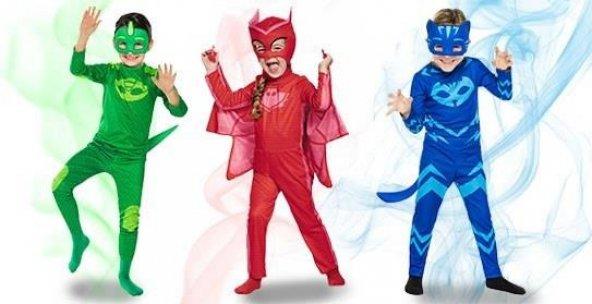 Pj Masks Kostüm - Pijamaskeliler Kostümü-Pjamasks Kostüm  -ORJİNA