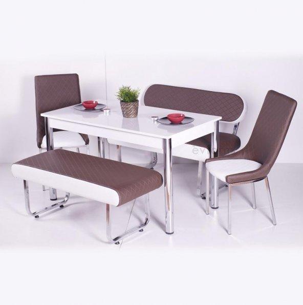 İzmo Bank Takımı Masa Sandalye Takımları Mutfak Masası Yemek Takı