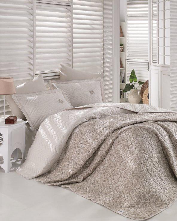 Clasy Ranforce Çift Kişilik Multi Set Yatak Örtüsü – Tiera Bej