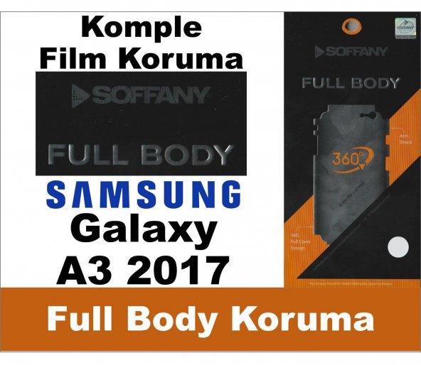 Soffany-Samsung A3 2017 Full Body Komple Koruma-Nano Film 360 Derece Kılıf
