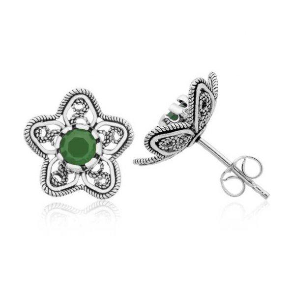 Nilüfer Çiçeği Bayan Pirmoda Gümüş Küpe