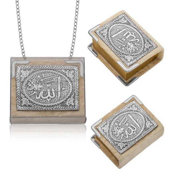 Pirmoda Gümüş Zincirli Küçük Kuranı-ı Kerim