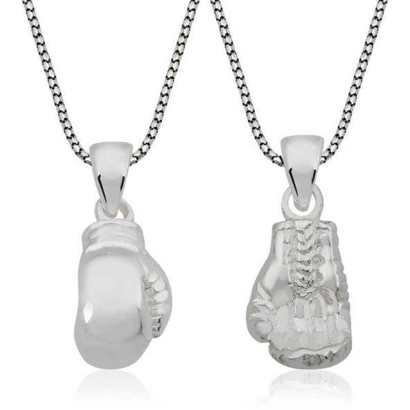 Boks Eldiveni Pirmoda Gümüş Kolye