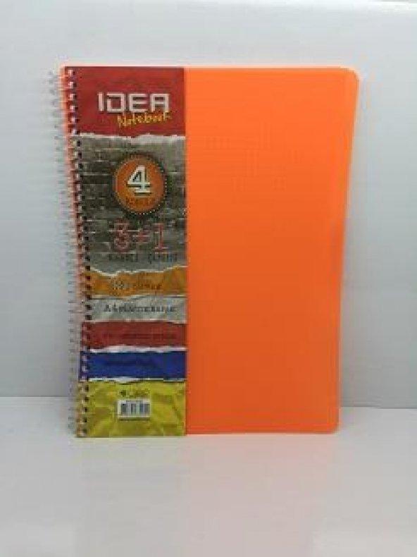 Idea Notebook 4 Konulu 3+1 Kareli Ve Çizgili