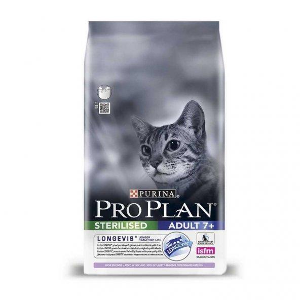 Proplan Sterilised +7 Hindili Kısır Yaşlı Kedi Maması 1,5 kg