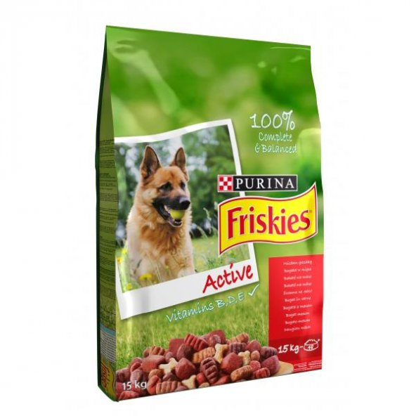 FRISKIES ACTIVE Aktif Köpekler İçin Etli Köpek Maması 10 Kg