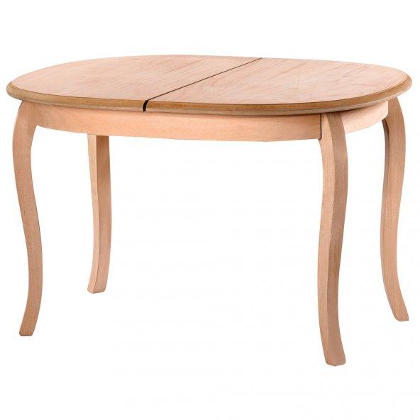 Oval Milano Masa  (Cilasız Ham Ahşap)