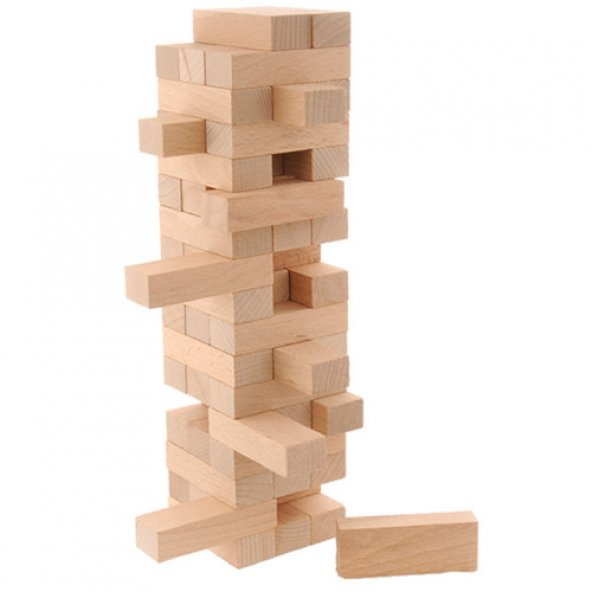 Jenga Eğitici Ahşap Denge Oyunu - 54 Parça Blok