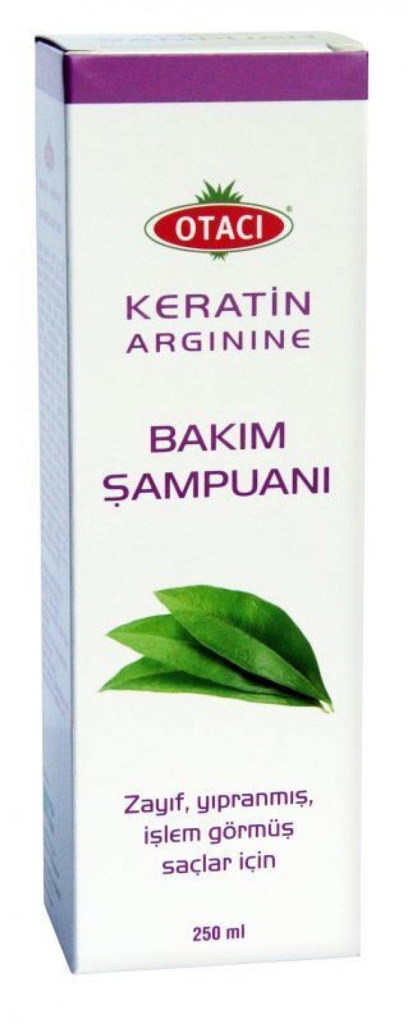 Otacı Keratin & Arginine Şampuan 250 Ml - Zayıf, Yıpranmış Ve İşl