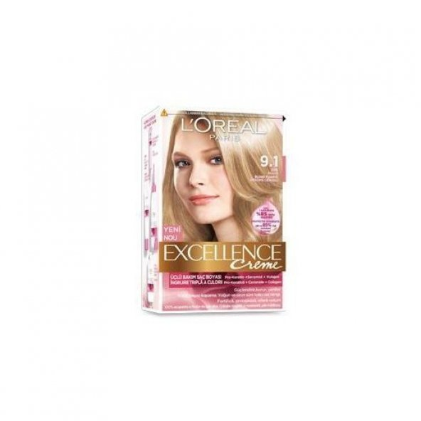 Loreal Paris Excellence Creme Saç Boyası 9.1 Sarı Küllü