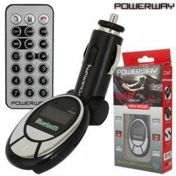 Powerway PW-FM-22 Kablosuz Fm Transmitter Micro Sd Kart Destekli